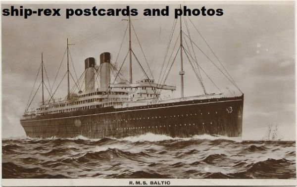 BALTIC (1904, White Star Line) postcard (c)
